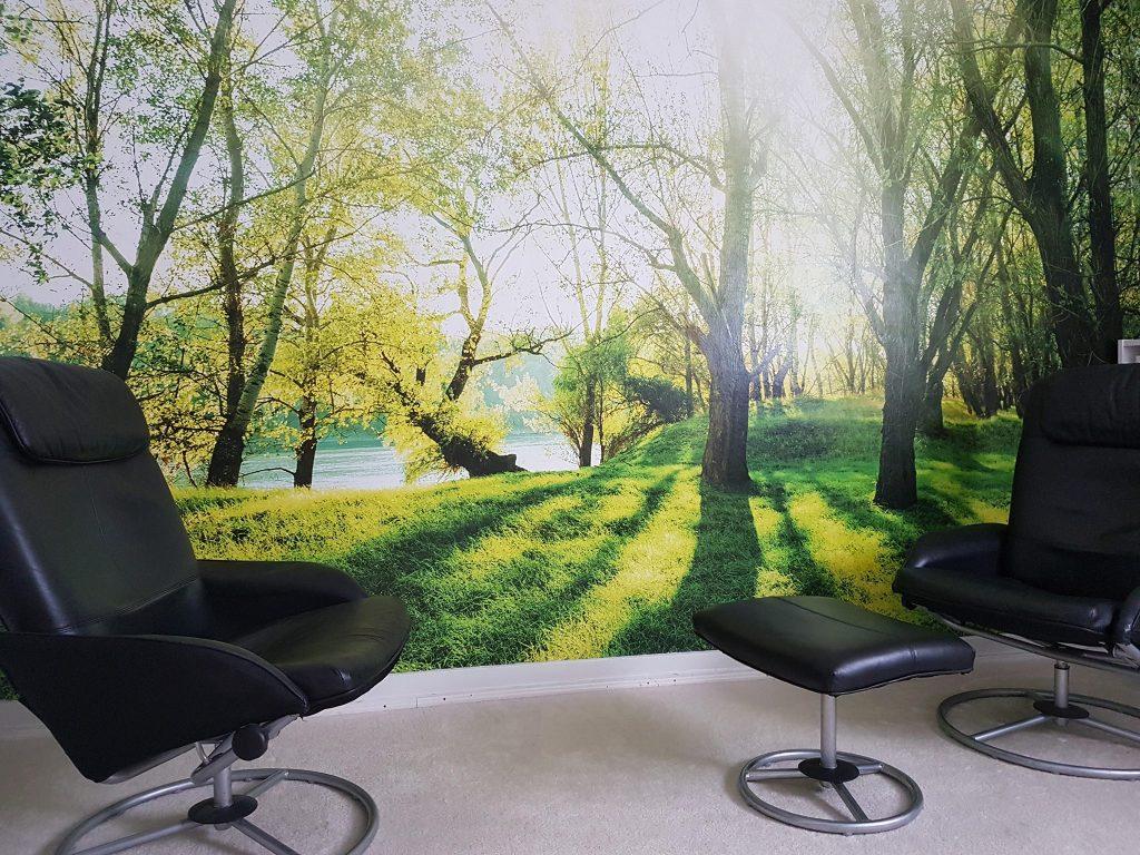 Behandlungsraum der Praxis für Psychotherapie Susanne Speer in Frankfurt am Main, Frankfurt-Ost, Seckbach